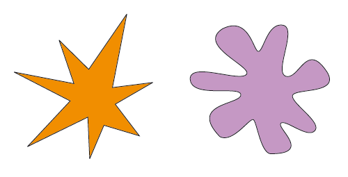 bouba kiki corresponding shapes