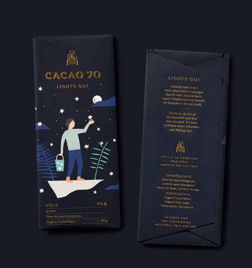 Beautiful vector illustration packaging via Cacao70