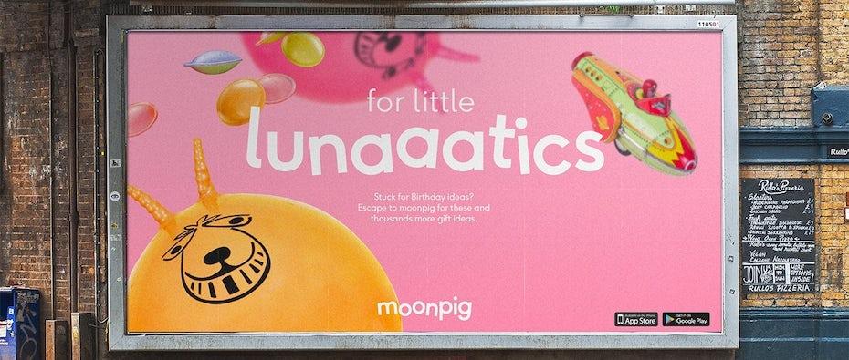 Moonpig branding