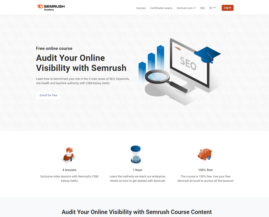 Fundamentals of Audit your Online Visibility with Semrush