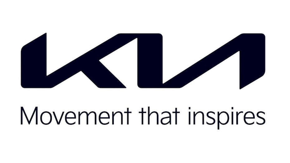 three letters K, I and A connected to each other with the tagline, movement that inspires, underneath