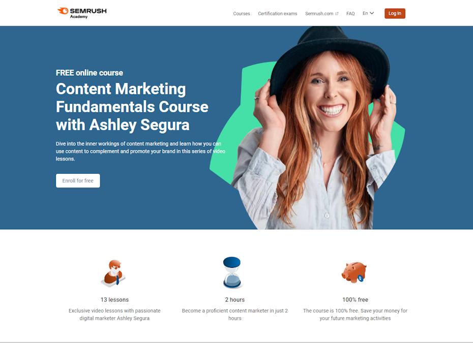 Screenshot of Content Marketing Fundamentals