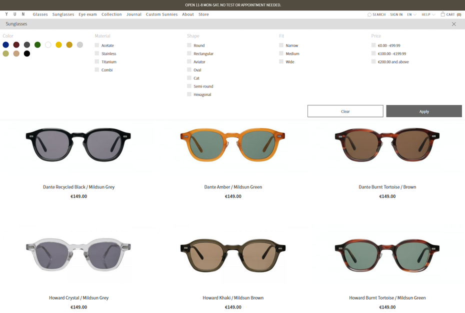 Use filters on your ecommerce site.