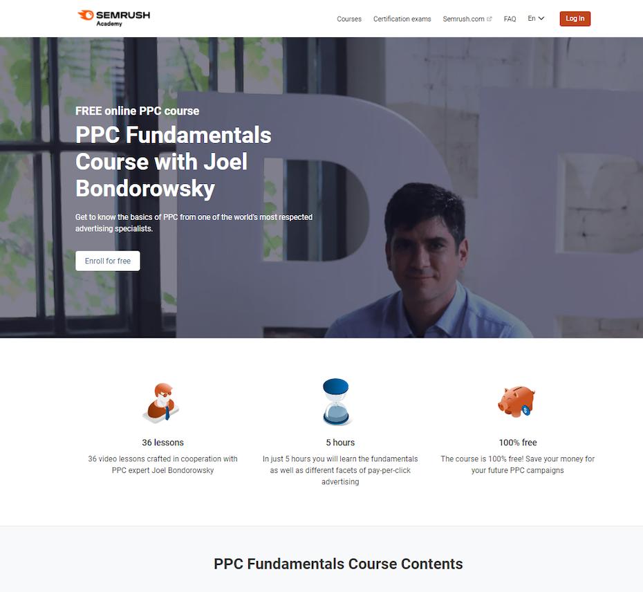 Screenshot of PPC Fundamentals