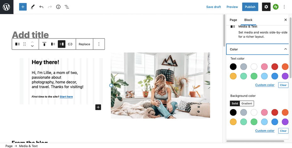 Best website builders for ecommerce example: WooCommerce/Wordpress