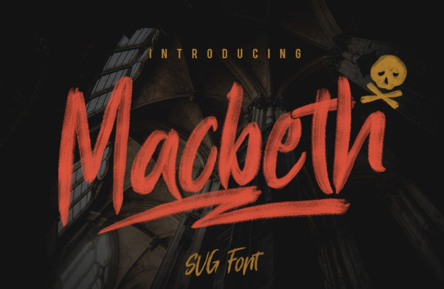 Hand-painted style font design