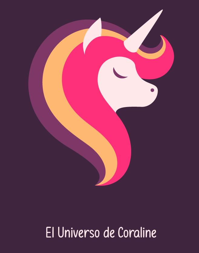Unicorn Twitch logo avatar design