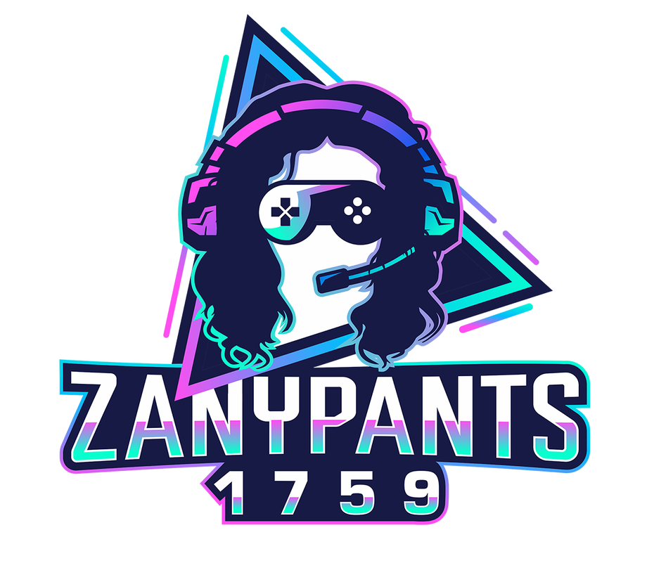 80s style Twitch gaming logo design