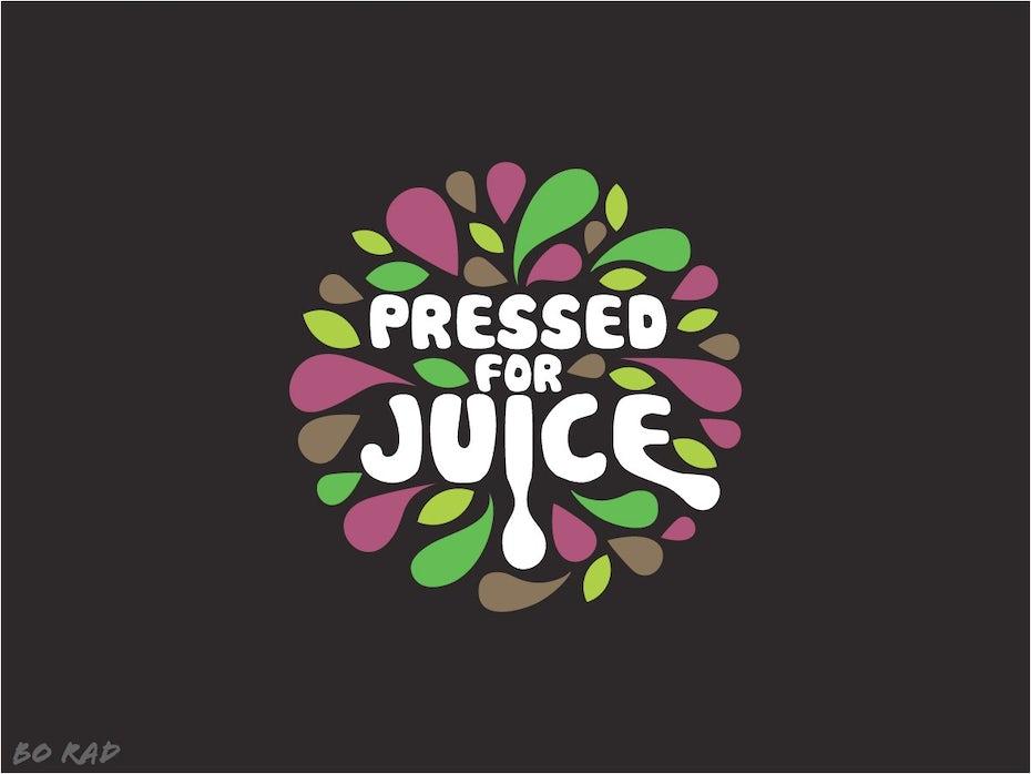 retro style juice logo