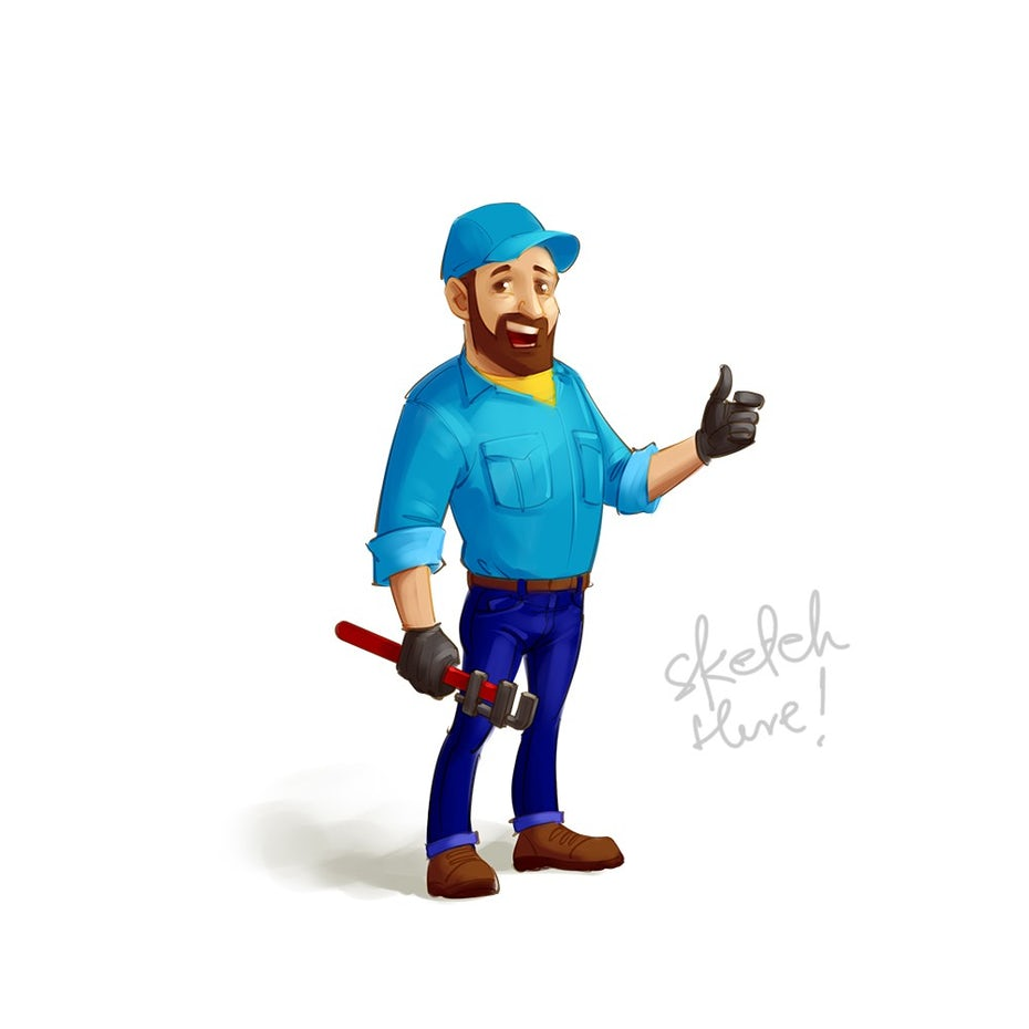Mascot illustration of a construction worker
