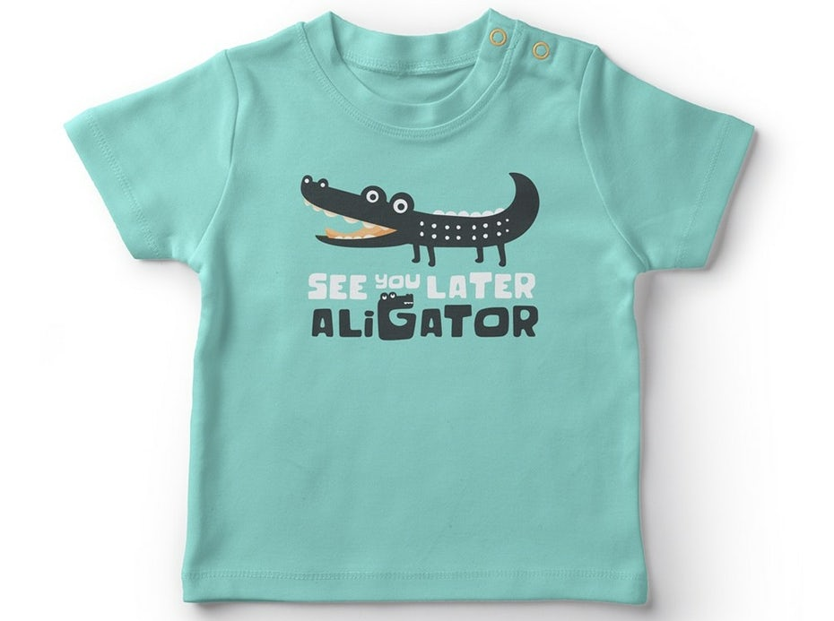 Lettering design for children's apparel