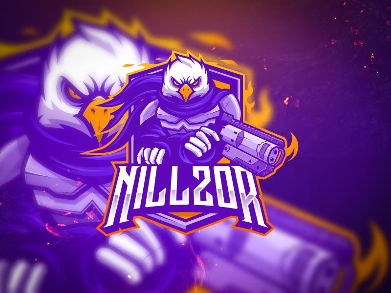 Twitch esports logo design with an eagle mascot