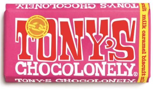Bold Tony's Chocoloney packaging via Tony's Chocoloney