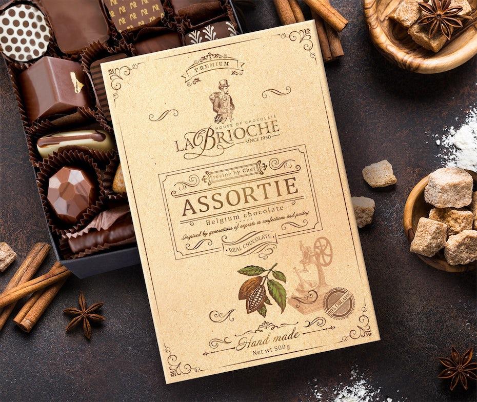 chocolate packaging design