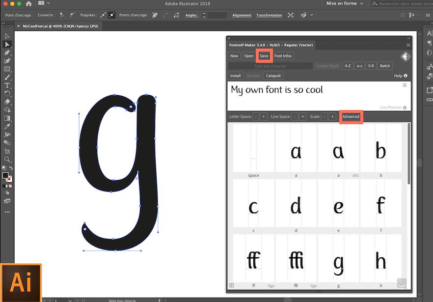 Screenshot of the Fontself Maker extension