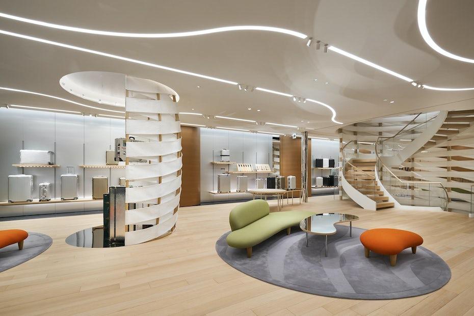 Interior design of Rimowa retail shop