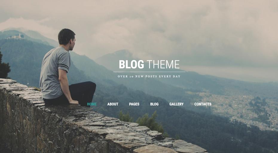 screenshot of Blog Theme Joomla Template