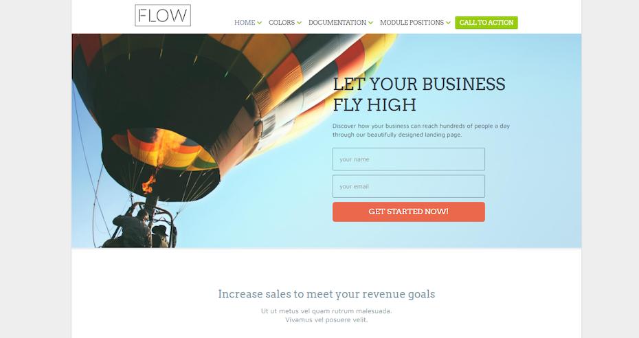 screenshot of Flow