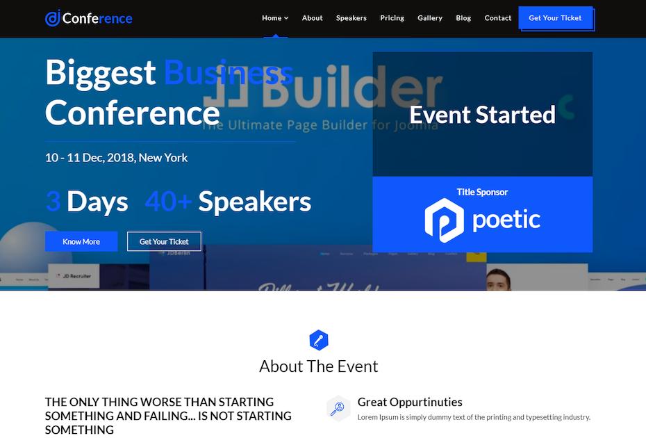 screenshot of JD Conference