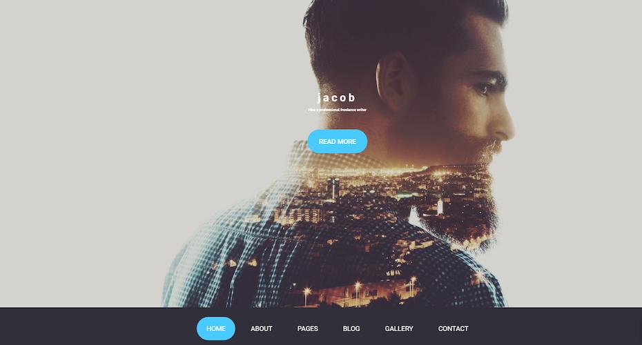 Screenshot of Jacob Joomla Template