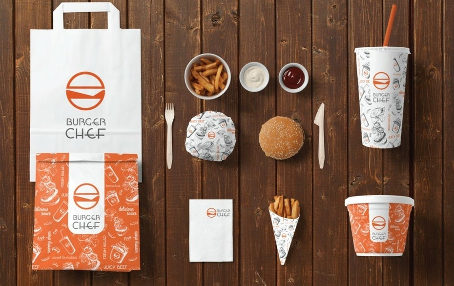 burger chef packaging