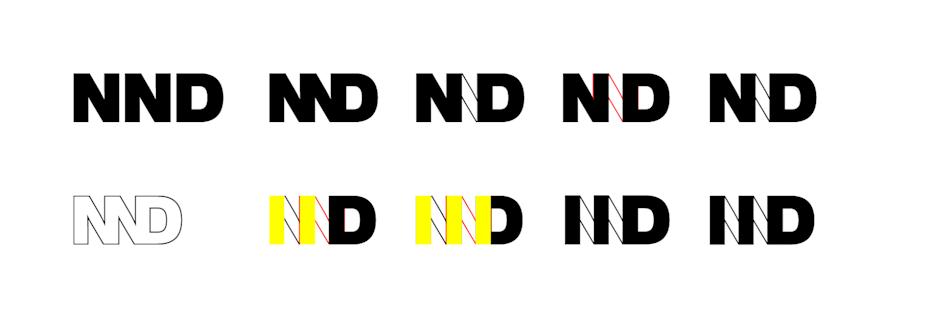 iterations of a monogram design