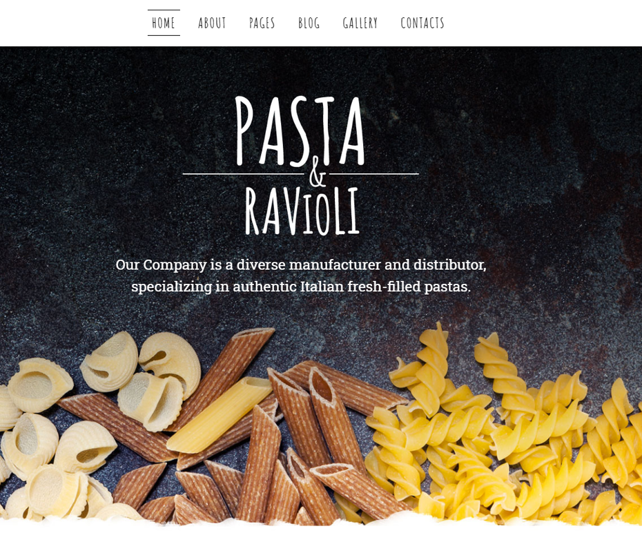 screenshot of Pasta and Ravioli