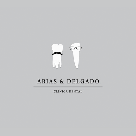 arias & delgado funny tooth dental logo