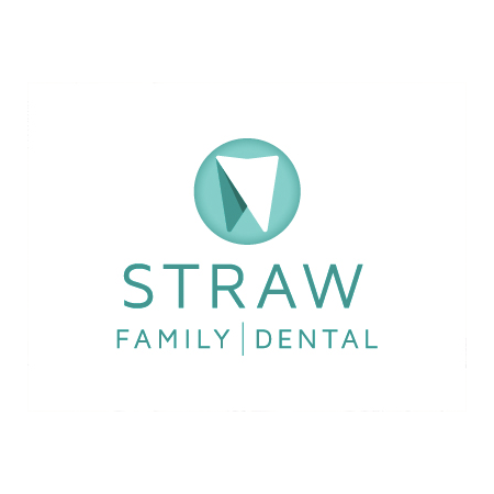 straw family dental logo
