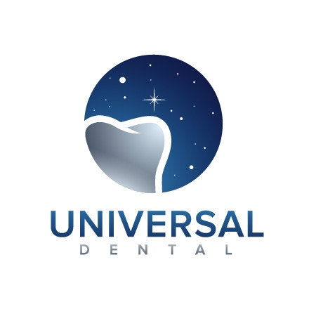 universal dental tooth star logo
