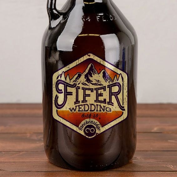 wedding logo on beer