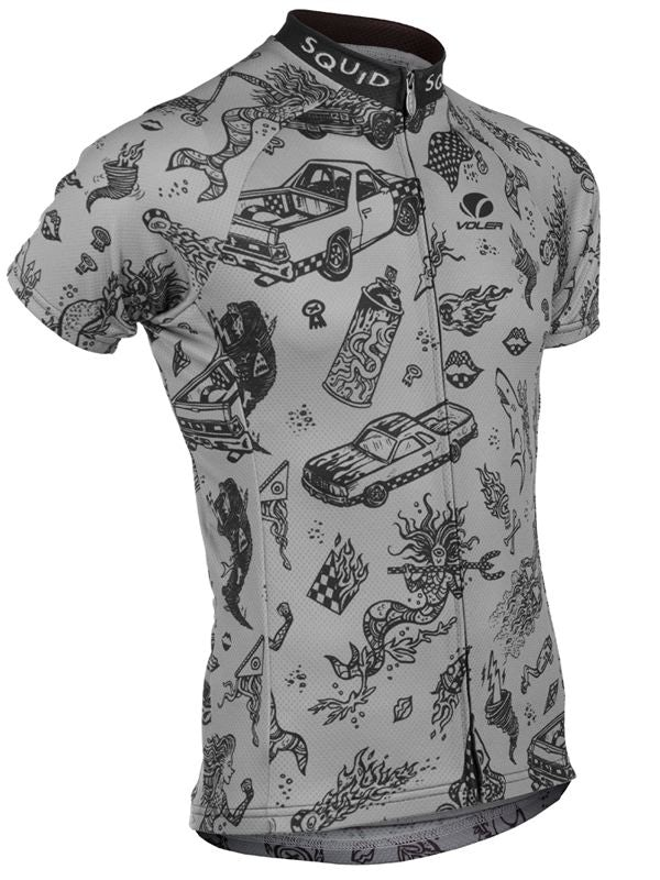 baf3dfff0 Squid Bikes brings the trend of quirky patterns to cycling jersey design in  this rad shirt.