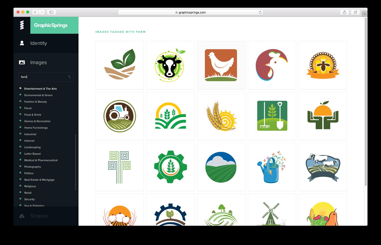 GraphicSprings free logo maker