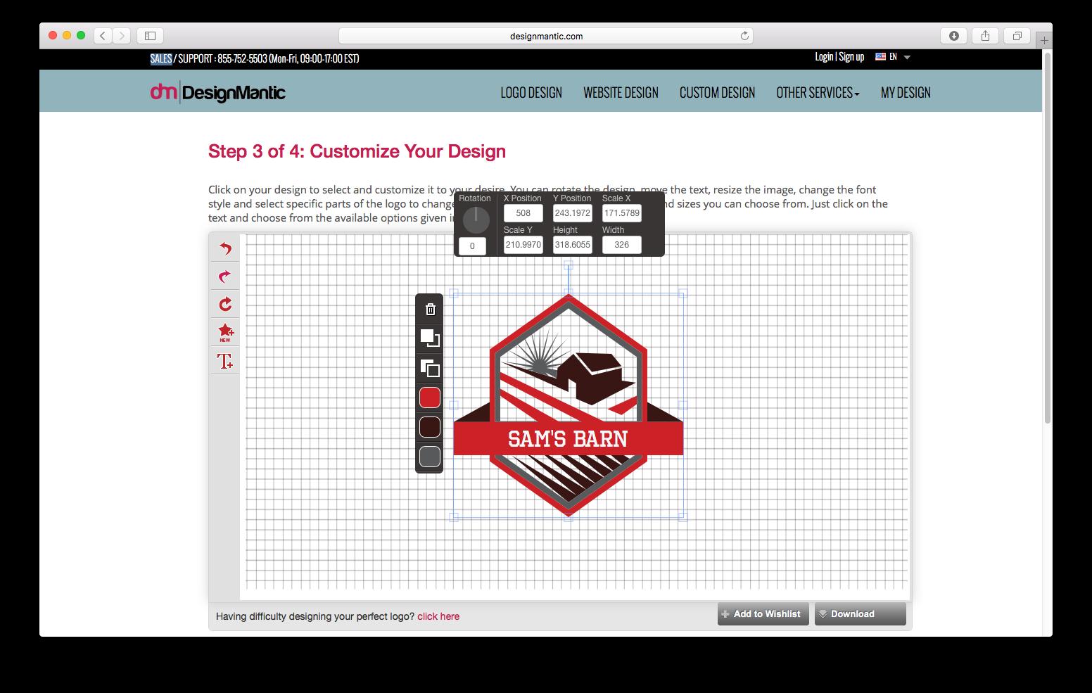 DesignMantic logo generator