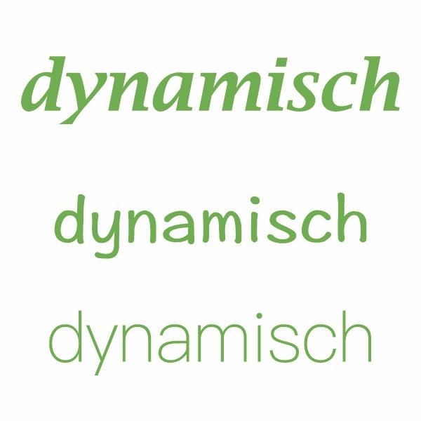 dynamisch typografie