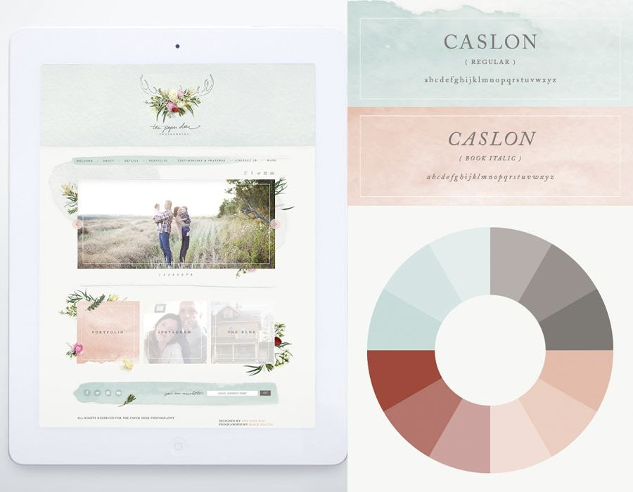 Consider Using Your Color Palate To Inspire Wedding Website