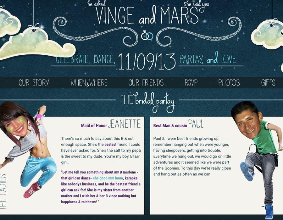 welche informationen auf eurer hochzeitswebsite stehen sollten - Hochzeitshomepage Beispiele