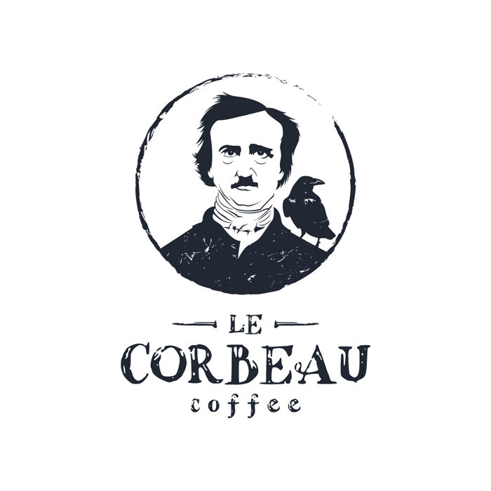 Le Corbeau Coffee logo by Sava Stoic