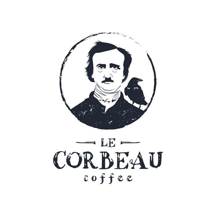 Le Corbeau Coffee logo by Sava Stoic