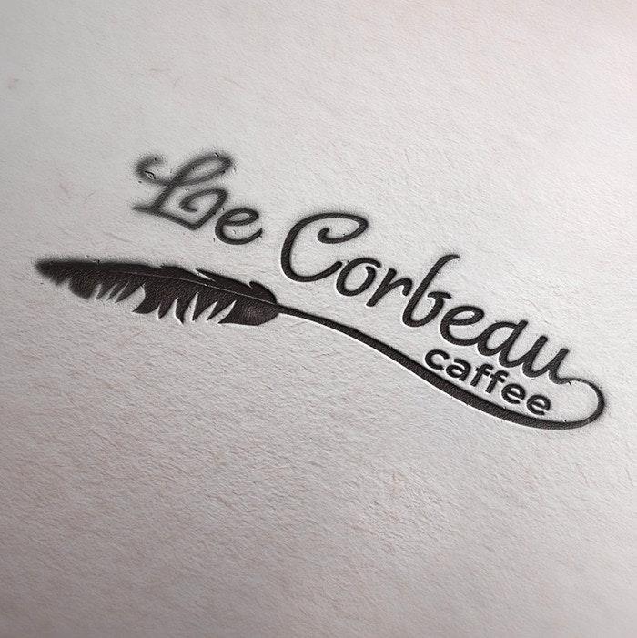 Le Corbeau Coffee logo by obsidian_