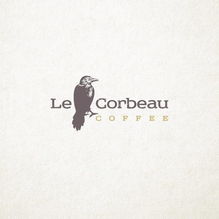 Le Corbeau Coffee logo by ludibes