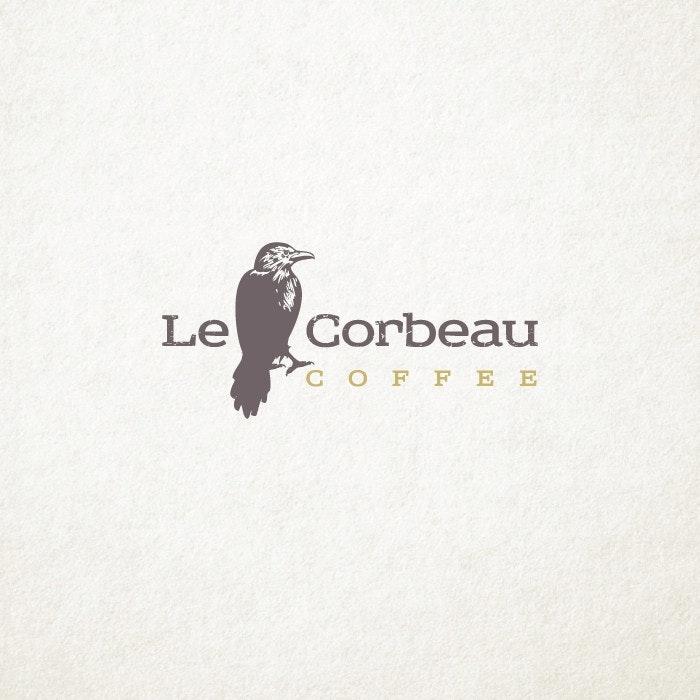 Le Corbeau Coffee logo by ludibes