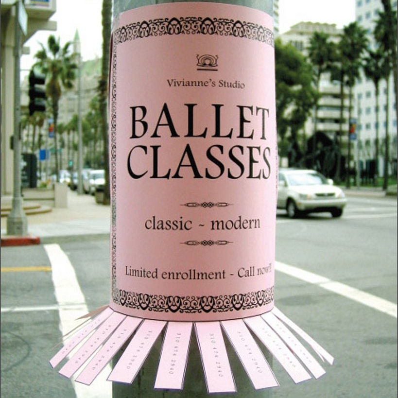 ballet classes advertisement