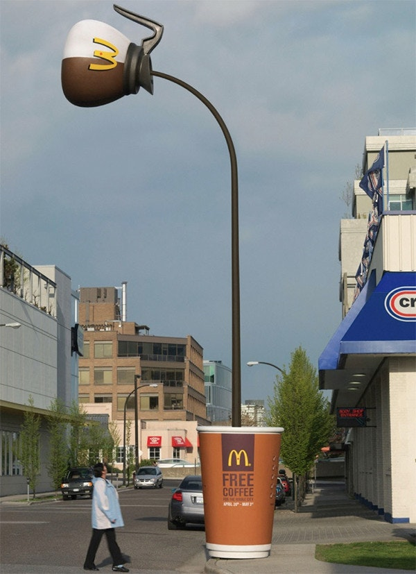 McDonald's coffee pot lamp post