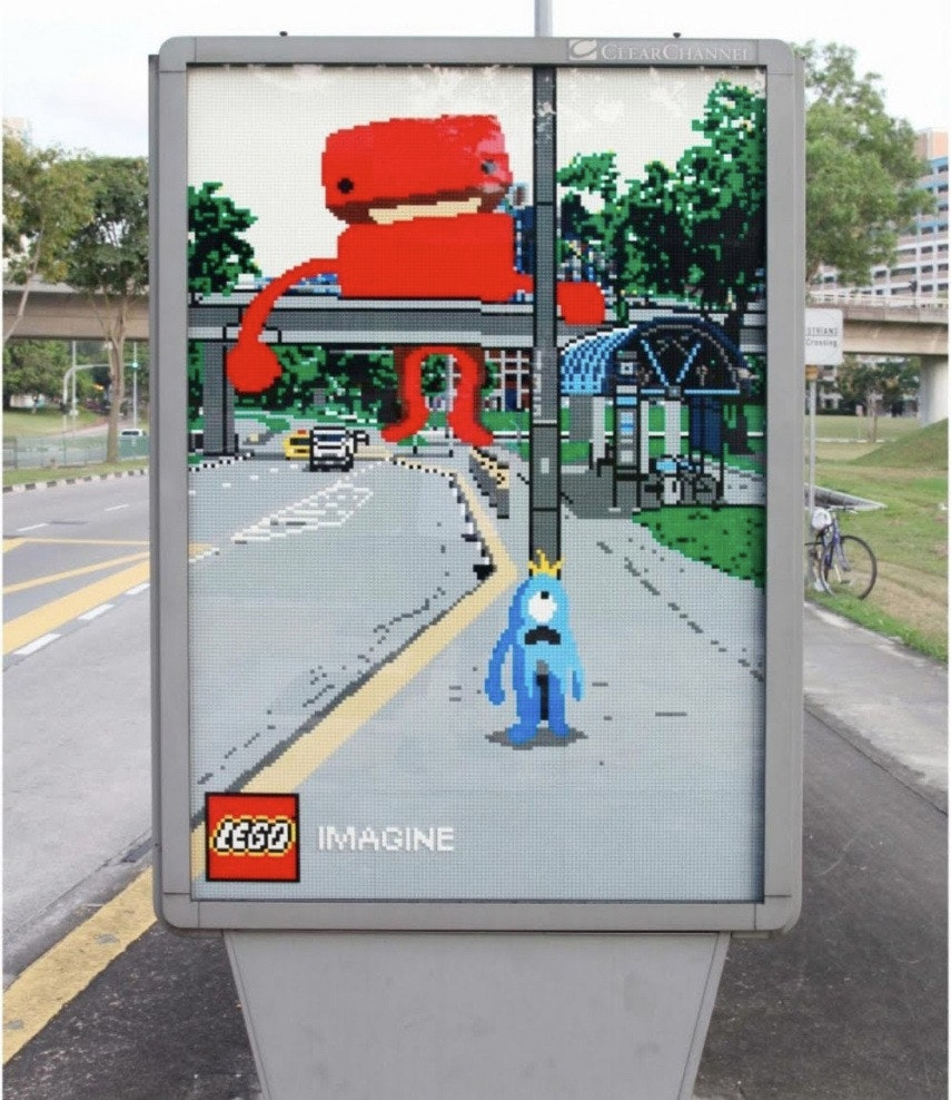 lego overpass ad