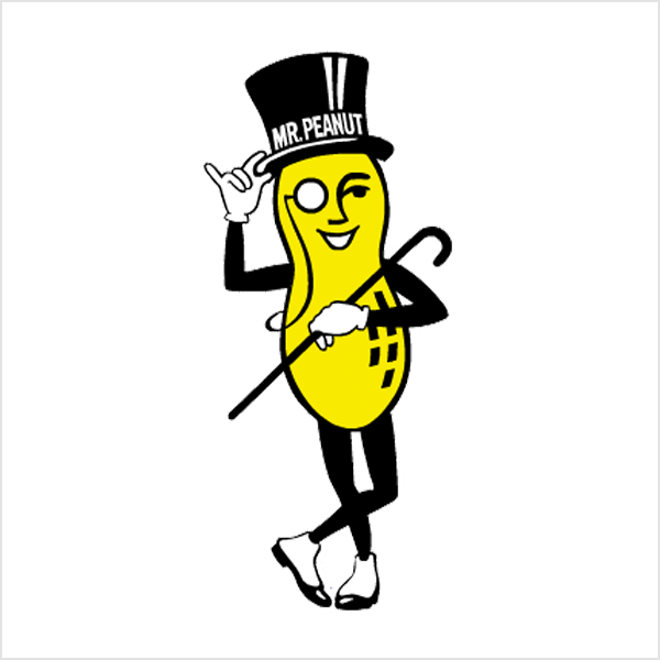 Mr. Peanut mascot logo