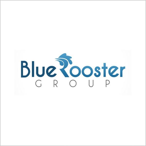 blue rooster blue logo