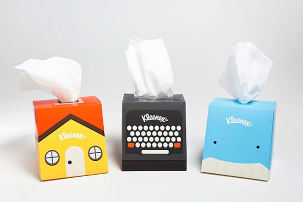 Kleenex product packaging