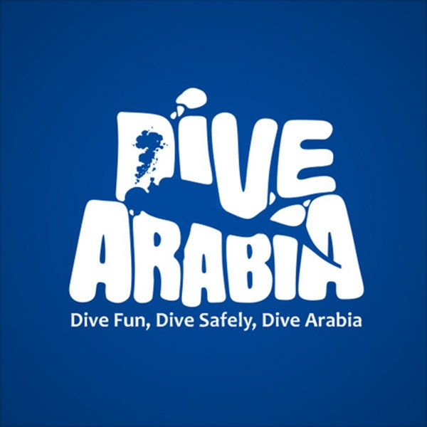 dive arabia blue logo diving scuba