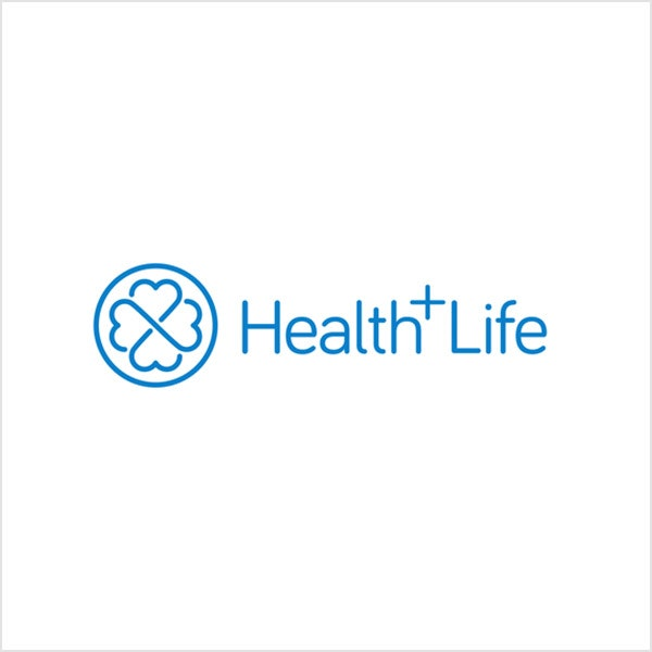 health+life blue logo